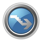 Icon, Button, Pictogram Downstairs Stock Illustration