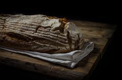 Home-baked sourdough bread - stock photo