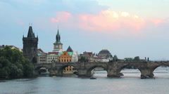 Prague, capital city of Czech Republic Stock Footage