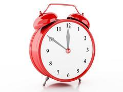 3d Alarm clock - stock illustration