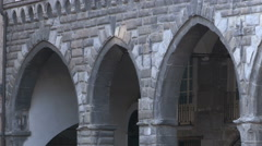 Some stone arcades Stock Footage