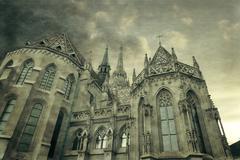 Roman Catholic Matthias Church in Budapest Stock Photos