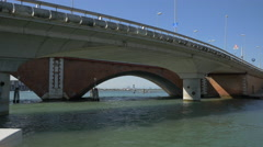 Bridges between the Grand Canal and the Venetian Lagoon Stock Footage