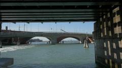 Via de la Liberta bridge in Venice Stock Footage