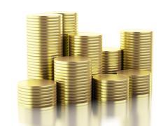 3d Gold coins - stock illustration