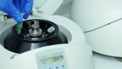 Close-Up Of Biological Research In The Laboratory Stock Footage