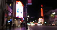 Stock Video Footage of Hollywood Los Angeles Walk Of Fame Steet Background Blurry De-Focused 4K
