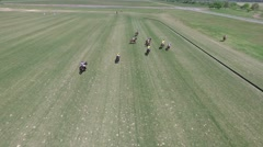 Polo match drone scene. Stock Footage