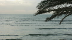 Summer vacation at exotic tropical resort. Choppy water surface of endless sea - stock footage