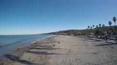 4K AERIAL: La Jolla, San Diego, California Beach Reveal Stock Footage
