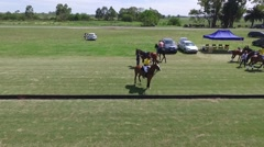 Drone view scene of a Polo Match Stock Footage