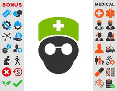 Medic Head Icon - stock illustration