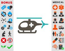 Stock Illustration of Emergency Helicopter Icon