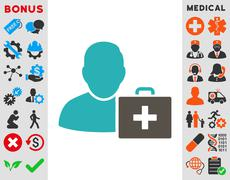 First Aid Man Icon - stock illustration