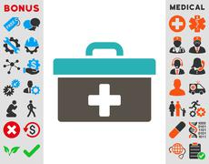 First Aid Toolbox Icon Stock Illustration