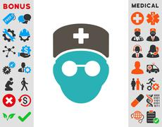 Medic Head Icon Stock Illustration