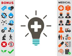 Medical Electric Lamp Icon - stock illustration