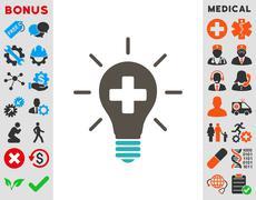 Medical Electric Lamp Icon Stock Illustration