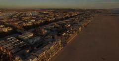 Aerial drone footage from Venice Beach, Los Angeles - stock footage