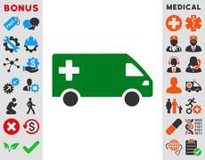 Stock Illustration of Emergency Van Icon
