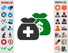 Health Care Funds Icon - stock illustration