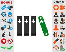 Medical Books Icon Stock Illustration