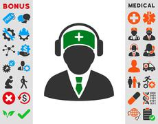 Stock Illustration of Medical Call Center Icon