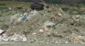 Abandoned waste deposit. Environmental pollution problem. Nature preservation Footage