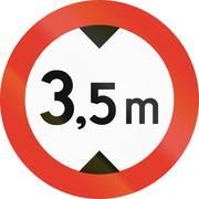 Stock Illustration of Norwegian regulatory road sign - No vehicles over 3.5 meters in height