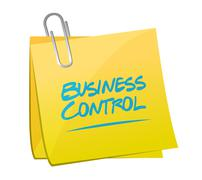 business control memo post sign concept - stock illustration