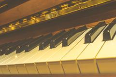 Classical piano keys , vintage style Stock Photos