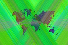Stock Illustration of Abstract art background with world map