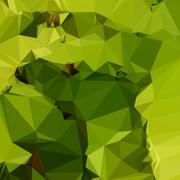 Stock Illustration of Avocado Green Abstract Low Polygon Background