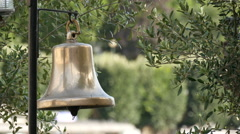 Close up view of a gilded bell in the Seine riverside, Paris Stock Footage