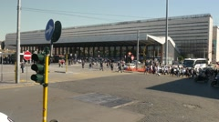 Rome Train Station Stock Footage