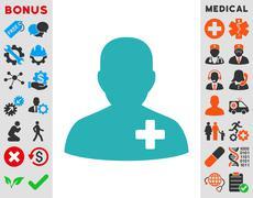 Stock Illustration of Medical Volunteer Icon