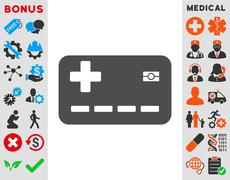 Stock Illustration of Medical Insurance Card Icon