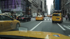 View from inside an NYC Taxi Stock Footage