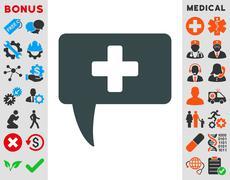 Medical Answer Icon - stock illustration