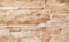 Stone Wall Texture material brown beige yellow - stock photo