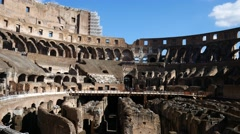 Colosseum Interion Stock Footage
