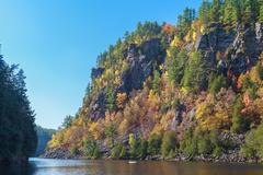 Algonquin Provincial Park in the autumn Stock Photos