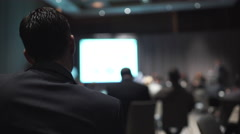 Attending a business event Stock Footage
