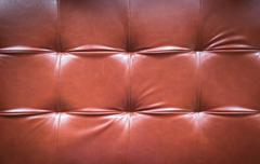 red leather sofa background - stock photo