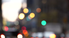 New York City traffic, bokeh effect Stock Footage