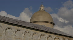 Camposanto Monumentale's dome in Pisa - stock footage