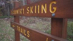 Stock Video Footage of Scene of a Cross Country trail marker
