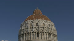 The upper part of the Baptistery of St John in Pisa - stock footage