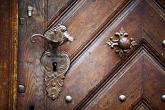 Old door knob - stock photo