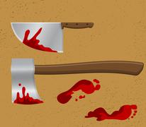 Bloody Knife - stock illustration
